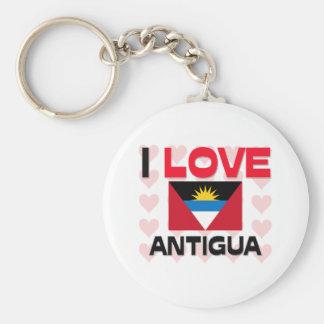 I Love Antigua Keychain