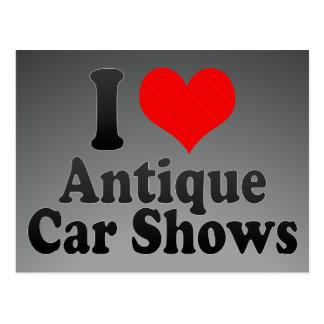I love Antique Car Shows Postcards