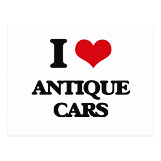 I Love Antique Cars Post Card
