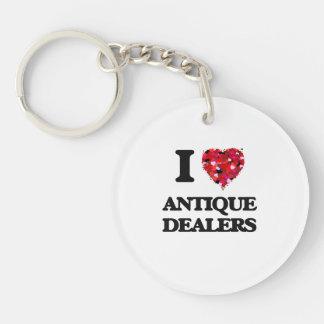 I love Antique Dealers Single-Sided Round Acrylic Keychain