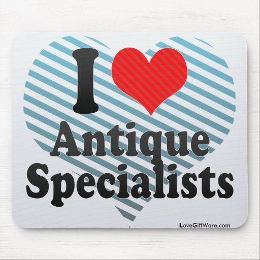 I Love Antique Specialists Mouse Pad