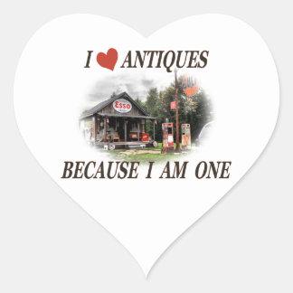 I love antiques heart sticker