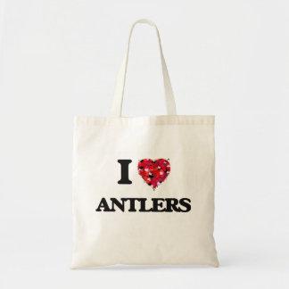 I Love Antlers Budget Tote Bag