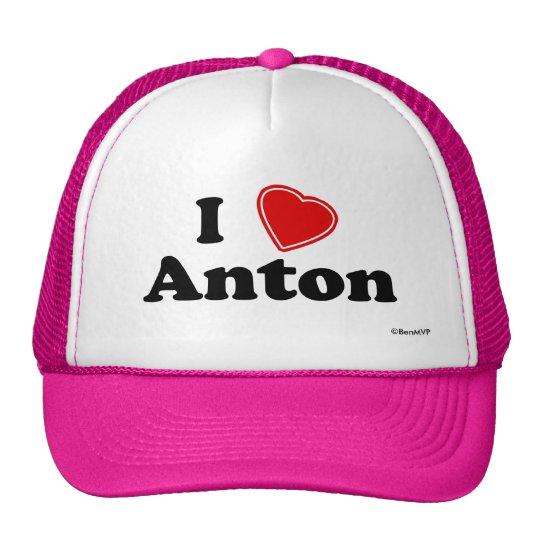 I Love Anton Trucker Hat