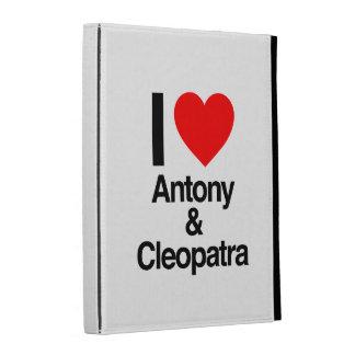 i love antony and cleopatra iPad folio case