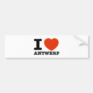 I Love Antwerp Bumper Sticker