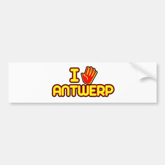 I Love Antwerp (hand) Bumper Sticker