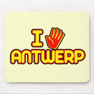 I Love Antwerp (hand) Mouse Pad
