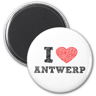 I Love Antwerp Refrigerator Magnets