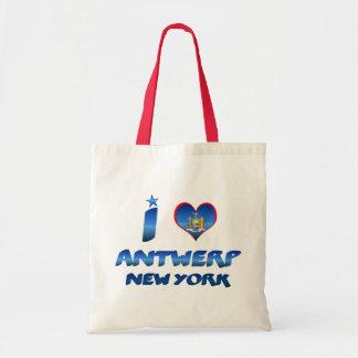 I love Antwerp, New York Budget Tote Bag
