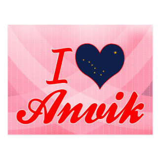I Love Anvik, Alaska Postcard