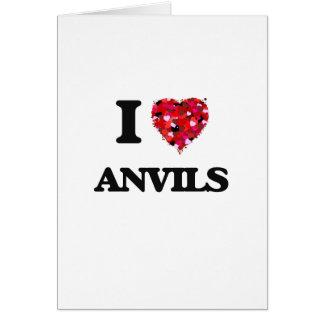 I Love Anvils Greeting Card