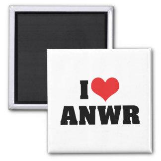 I Love ANWR 2 Inch Square Magnet