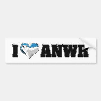 I Love ANWR Bumper Sticker Car Bumper Sticker