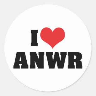 I Love ANWR Classic Round Sticker