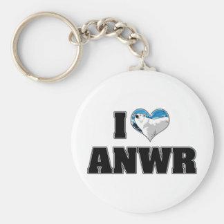 I Love ANWR Keychain