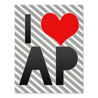 I Love AP 4.25x5.5 Paper Invitation Card