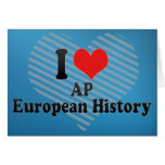 I Love AP European History Greeting Cards