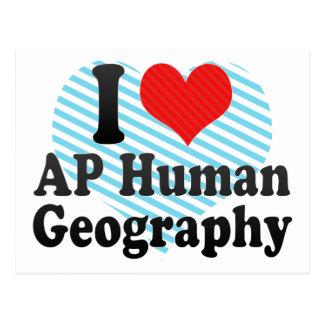 I Love AP Human Geography Postcard