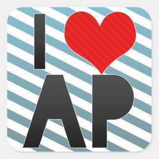I Love AP Square Sticker