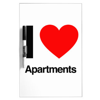 i love apartments Dry-Erase boards