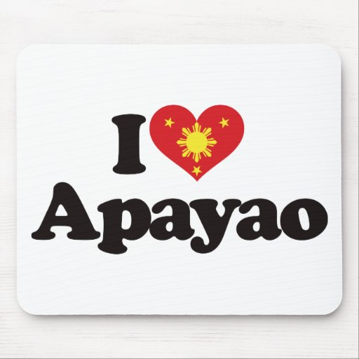 I Love Apayao Mouse Pads