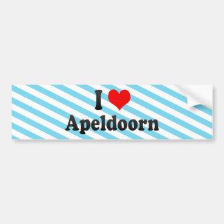 I Love Apeldoorn, Netherlands Car Bumper Sticker