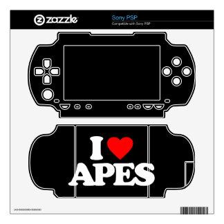I LOVE APES SKIN FOR PSP