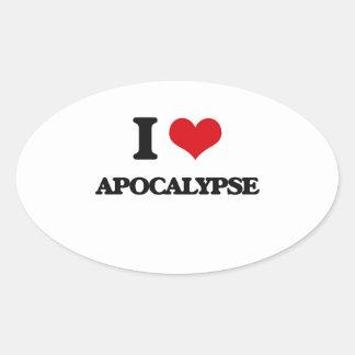 I Love Apocalypse Oval Sticker