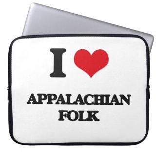 I Love APPALACHIAN FOLK Laptop Sleeve