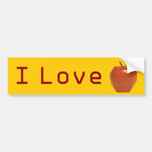 I Love Apple Bumper Sticker