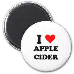 I Love Apple Cider Magnet