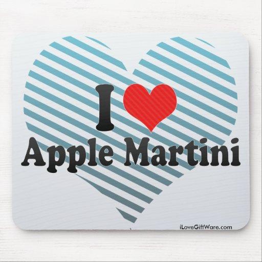 I Love Apple Martini Mousepads