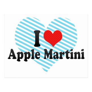 I Love Apple Martini Postcard