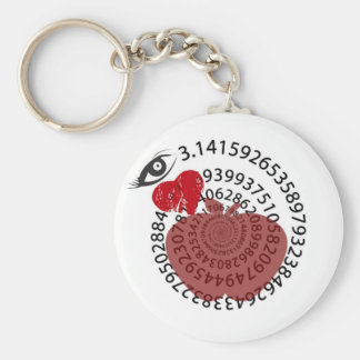 "I Love Apple ""Pi"" Pie Math Lovers! Keychain"