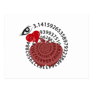 "I Love Apple ""Pi"" Pie Math Lovers! Postcard"