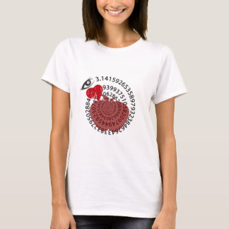"I Love Apple ""Pi"" Pie Math Lovers! T-Shirt"