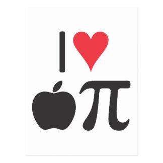 I love apple pi postcard