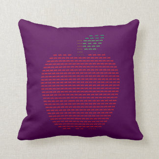 I love Apple Polyester Cushion 41 cm x 41 cm