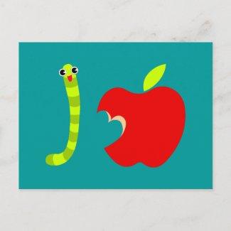 I Love Apple Postcard postcard