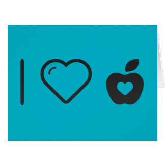 I Love Apple Sauce Large Greeting Card