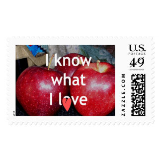 I love apple Stamps