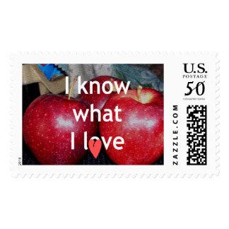 I love apple Stamps