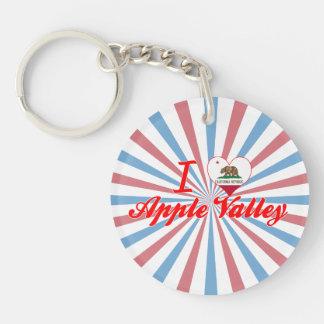 I Love Apple Valley, California Single-Sided Round Acrylic Keychain