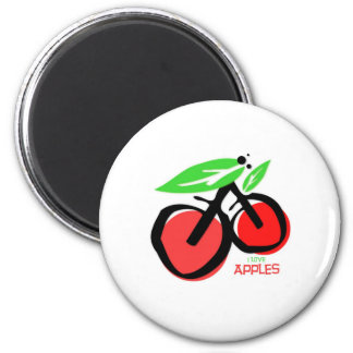 I Love Apples 2 Inch Round Magnet
