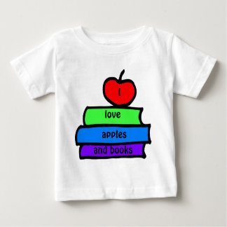 I love apples and books,, Back to School Tee Shirt