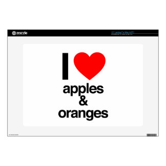 i love apples and oranges decals for laptops