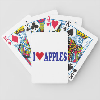 I Love Apples Bicycle Playing Cards