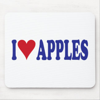 I Love Apples Mouse Pad