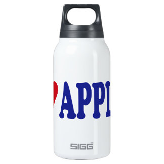 I Love Apples 10 Oz Insulated SIGG Thermos Water Bottle